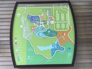 Map of the Bellevue Botanical Garden
