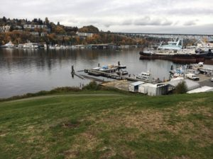 View of the marina at Gas Works Park in Wallingford